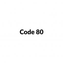 Standaard code 80